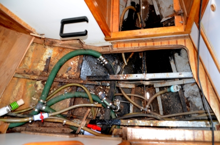 Before repairs have begun